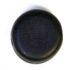 Glass Pressed Beads 8mm Flat Round Black Matt